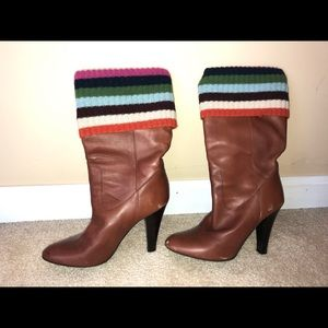 Brown Size 6 Coach Boots with fold-over details